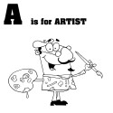 Thumbnail image for Cartoon Letter A