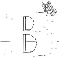 Dot to Dot Letter B