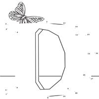 Dot to Dot Letter D