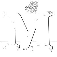 Dot to Dot Letter M