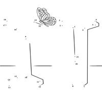 Dot to Dot Letter N