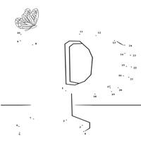 Dot to Dot Letter P