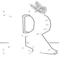 Dot to Dot Letter R