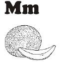 Fruit and Vegetable Letter M