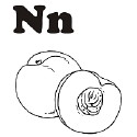 Fruit and Vegetable Letter N