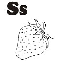 Fruit and Vegetable Letter S