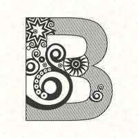 Abstract Letter B