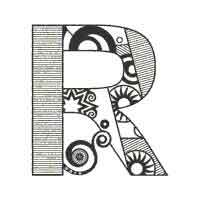 Abstract Letter R