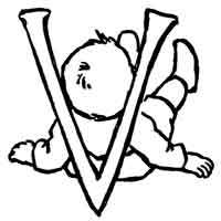 Baby Letter V