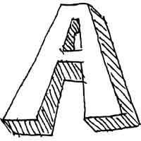 Large Block Letter A