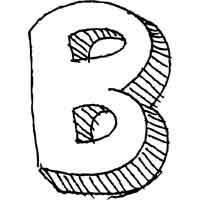 Large Block Letter B » Alphabet Coloring