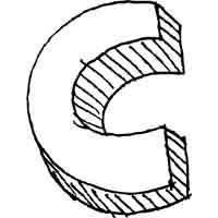 Large Block Letter C