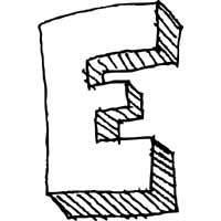 Large Block Letter E