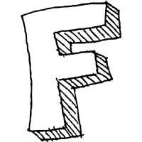 large block letter f alphabet coloring