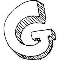 Large Block Letter G
