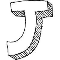 Large Block Letter J