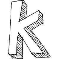Large Block Letter K