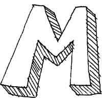 Large Block Letter M