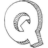 Large Block Letter Q