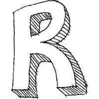 Large Block Letter R