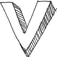 Large Block Letter V