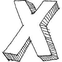 Large Block Letter X