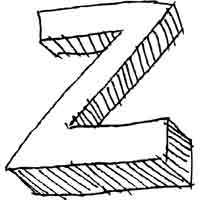 Large Block Letter Z
