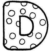 Polka Dot Letter D