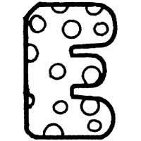 Polka Dot Letter E