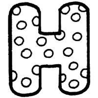 Polka Dot Letter H