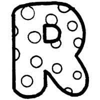 Polka Dot Letter R