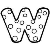 Polka Dot Letter W